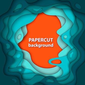 カラフルな紙で背景カット形状