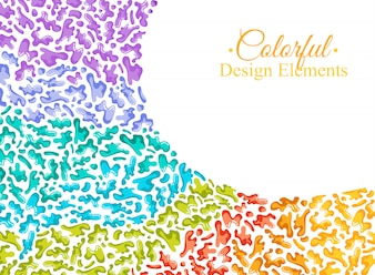 Background with colorful spots and sprays on a white.