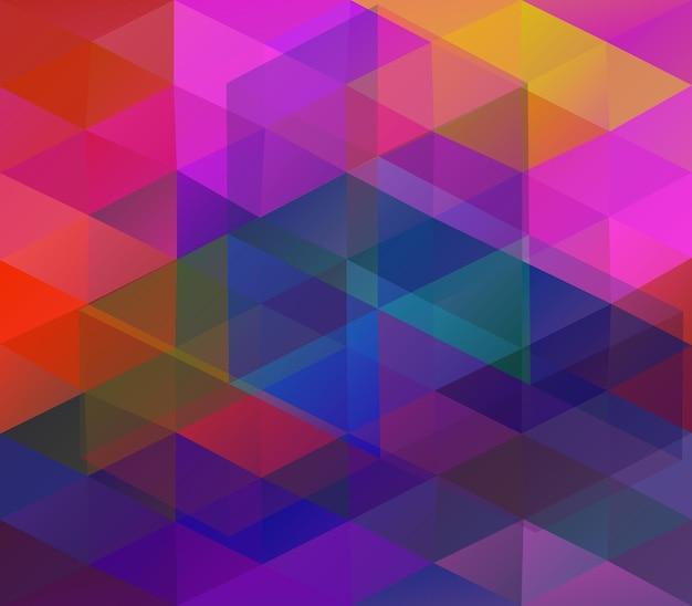 다채로운 삼각형 배경