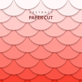 Background with coral trend color paper cut