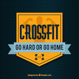 Background with crossfit badge