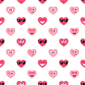 Фон с милыми сердечками