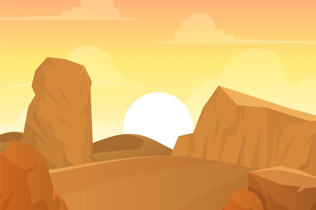 Background with desert landscape concept