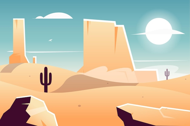 Background with desert landscape theme