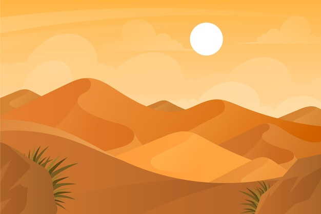 Background with desert landscape