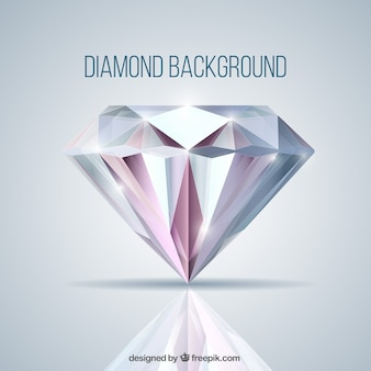 Background with diamond in realistic style