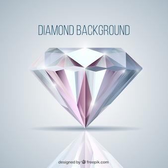 Sfondo con diamante in stile realistico