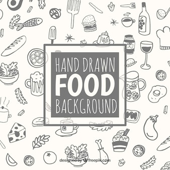 Background with different food
