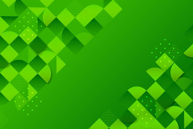 Background with different green shapes