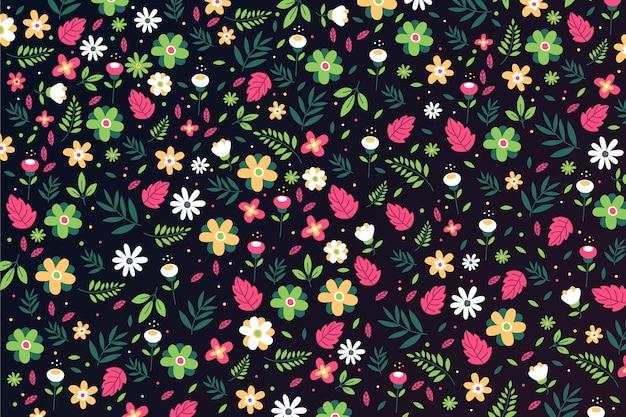 頭が変な花柄の背景