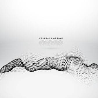 Background with dotted shapes, particle effect