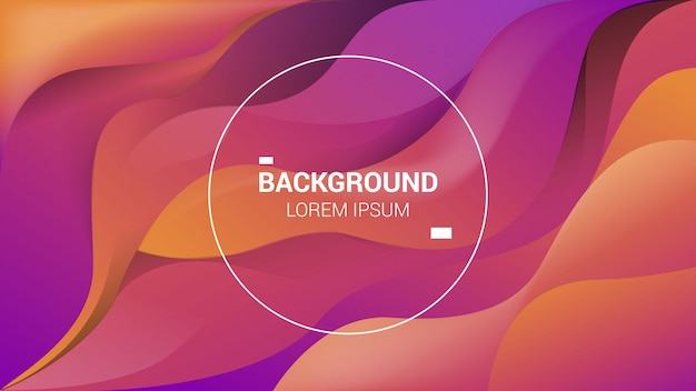 Background with elegant gradient color and abstract with liquid and light colors
