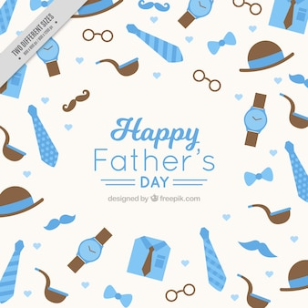 Background with elements of father's day