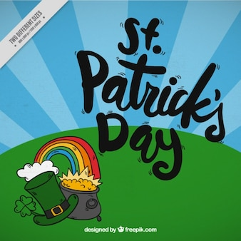 Background with elements of st. patrick's day