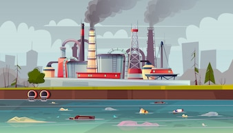 Фон с загрязнением окружающей среды