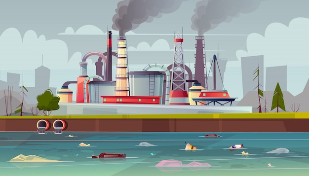 Background with environmental pollution