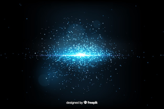 Background with explosion particle theme