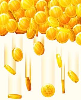 Фон с падающими золотыми монетами
