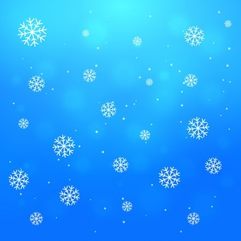 Background with falling snowflakes