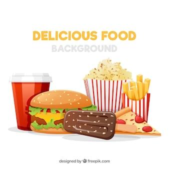 Sfondo con fast food