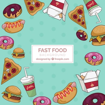 Background with fast food