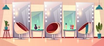 女性の美容院との背景