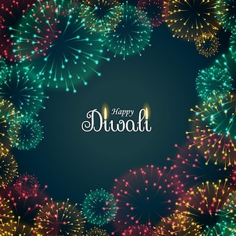 Background with fireworks for diwali