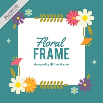 Background with a floral frame