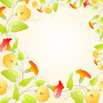 Background with flower wreath for romantic design