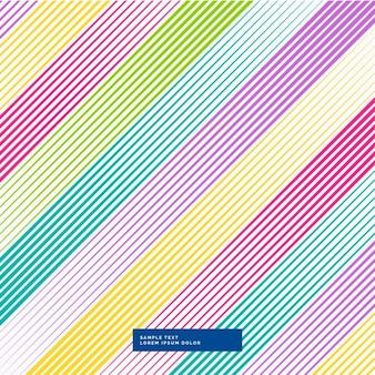 Linee diagonali astratto sfondo colorato