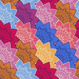 Sfondo con mandala a colori