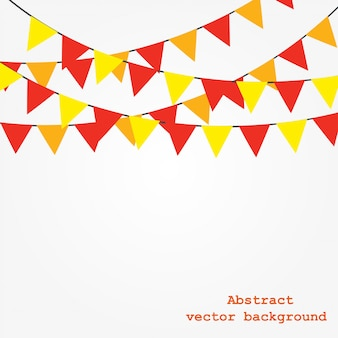 Background with garlands.