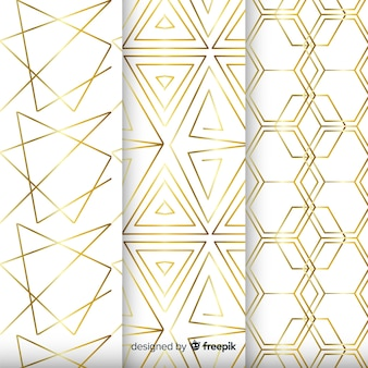 Background with geometric collection