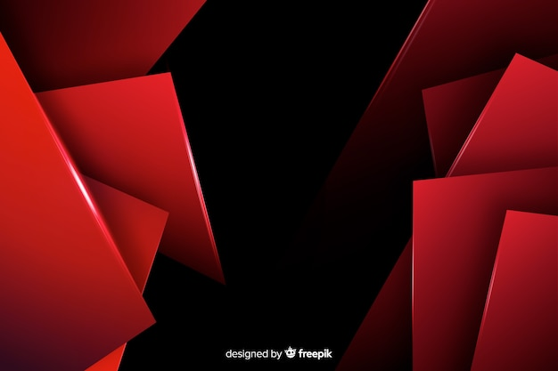 Background with geometric red lights
