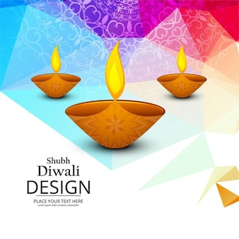 Background with geometric shapes for diwali