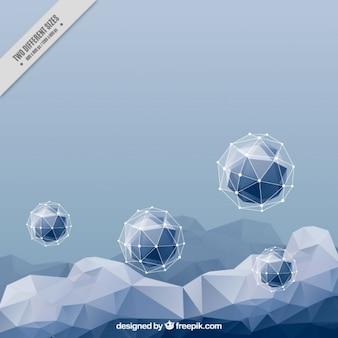 Фон с геометрическими фигурами в голубых тонах