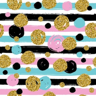 Background with glitter dots