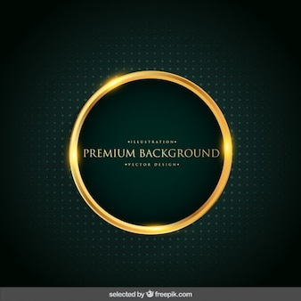 Background with gold circle