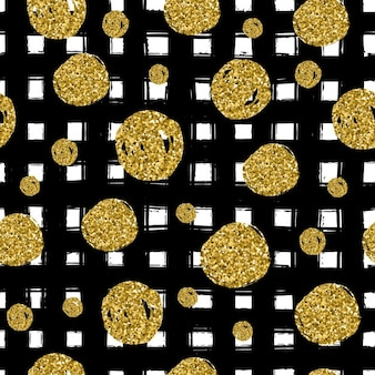Background with gold dots on a black grid