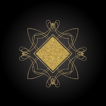 Background with gold ornamental element