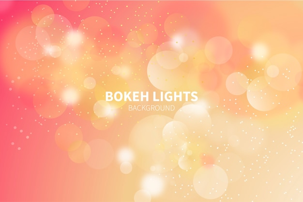 Background with golden bokeh lights