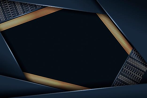 黄金のディテールと暗い紙層の背景