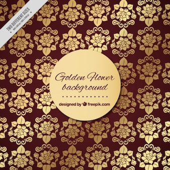Background with golden floral ornaments