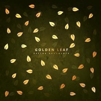Sfondo con foglie d'oro