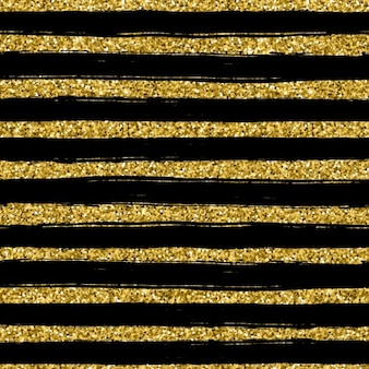 Background with golden lines on a black background