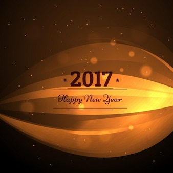 Background with golden wavy shapes for new year