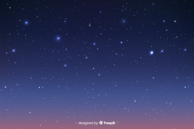 Background with gradient blue starry night