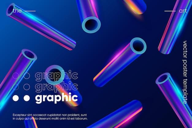 グラデーションの幾何学的な形の背景