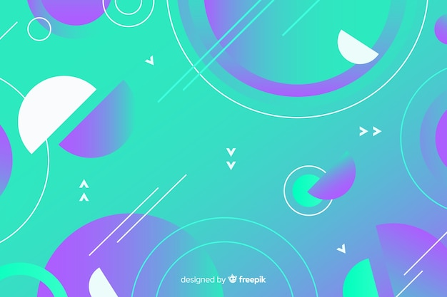 Background with gradient geometric shapes