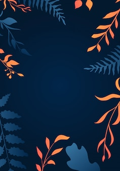 Background with gradient leaves